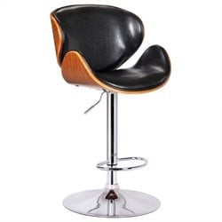 Boraam Osa Adjustable Swivel Bar Stool in Black