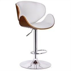 Boraam Osa Adjustable Swivel Bar Stool in White