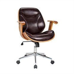 Boraam Rigdom Desk Chair in Brown