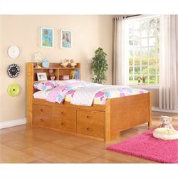 Boraam Full Captain's Storage Bed in Fruitwood