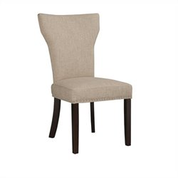 Boraam Monaco Upholstery Dining Chairs (Set of 2) in Oatmeal