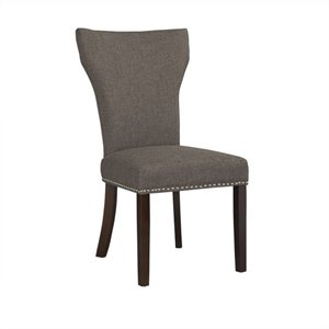 Boraam Monaco Upholstery Dining Chairs (Set of 2) in Steel-Gray