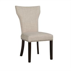 Boraam Monaco Upholstery Dining Chairs (Set of 2) in White-Sand