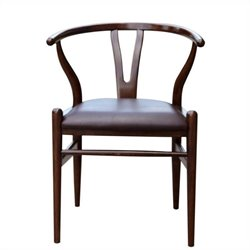 Boraam Wishbone Dining Chair in Cappuccino Finish