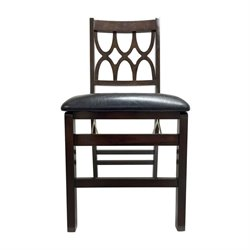 Boraam Cathedral Folding Chair in Cappucino (Set of 2)