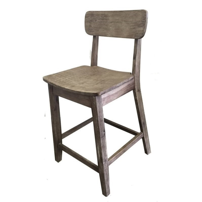 24 Quot Counter Stool In Gray Wire Brush 76724