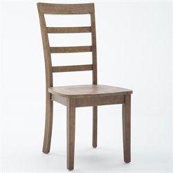 Boraam Boulder Dining Chair in  Driftwood Gray Wire-brush (Set of 2)