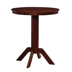 Boraam Troy Pub Table in Hazelnut