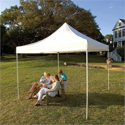 ShelterLogic 10'x10' Pro Truss Top Pop-Up Canopy Straight Leg with Cover in White