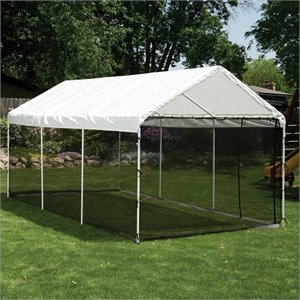 ShelterLogic 10'x20' Max AP 2-in-1 Canopy Pack with Screen Enclosure Kit in White
