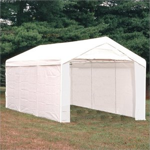 ShelterLogic Max AP 10'x20' 3-in-1 Canopy Pack with Enclosure and Extension Kits in White