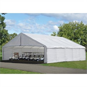 ShelterLogic Ultra Max Industrial Canopy Enclosure Kit in White