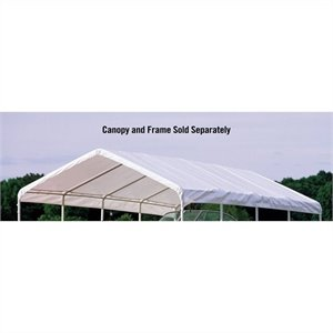ShelterLogic Super Max 12'x30' Premium Canopy Replacement Cover in White