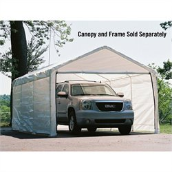 ShelterLogic 12'x20' Super Max Canopy Enclosure Kit in White