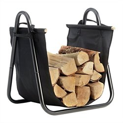 ShelterLogic Hearth Accessories Log Holder with Canvas Carrier in Black