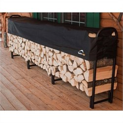 ShelterLogic Heavy Duty Firewood Rack-in-a-Box with 12' Cover in Black