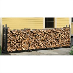 ShelterLogic 12' Ultra Duty Firewood Rack in A Box in Black