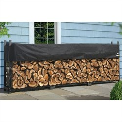 ShelterLogic 12' Ultimate Firewood Rack with Cover in Black