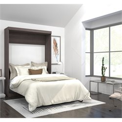 Bestar Pur Full Wall Bed in Bark Gray