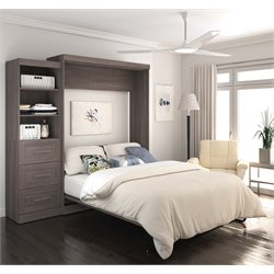 2686X-47 Pur Wall Bed with Storage in Bark Gray