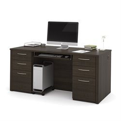 Embassy Executive Desk in Dark Chocolate 608X0