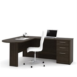 Bestar Embassy L-shaped Workstation with 1 Assembled Pedestal
