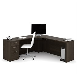 Bestar Embassy Corner Desk in Dark Chocolate