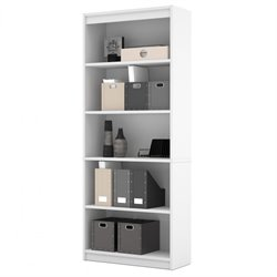 Bestar 5 Shelf Bookcase in White
