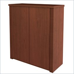 Bestar Prestige + Two Door Cabinet in Cognac Cherry