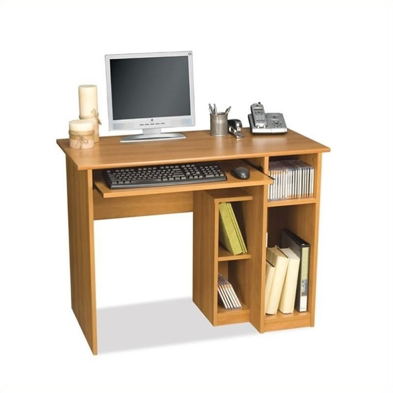 Cool Basic Small Wood Computer Desk in Cappuccino Cherry - 90400-1168