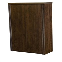 Bestar Prestige + Two Door Cabinet in Chocolate