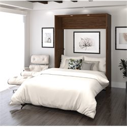 Bestar Cielo Wall Bed in Oak Barrel