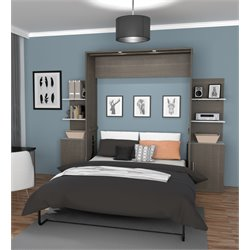 Bestar Cielo Wall Bed Kit in Bark Gray
