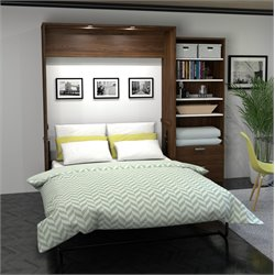 Bestar Cielo Premium Wall Bed Kit in Oak Barrel