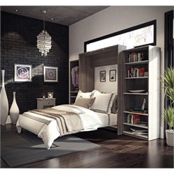 Bestar Cielo Classic Wall Bed Kit in Bark Gray 2
