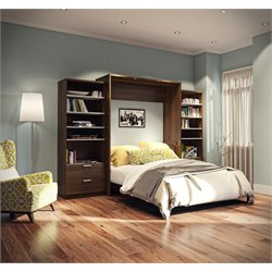 Bestar Cielo Premium Wall Bed Kit in Oak Barrel 2
