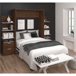 Bestar Cielo Elite Wall Bed Kit in Oak Barrel 1