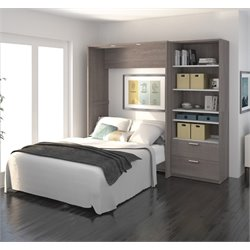 Bestar Cielo Premium Wall Bed Kit in Bark Gray