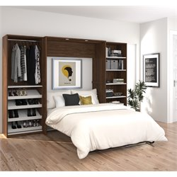 Bestar Cielo Classic Wall Bed Kit in Oak Barrel 1