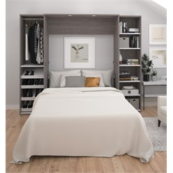 Bestar Cielo Classic Wall Bed Kit in Bark Gray