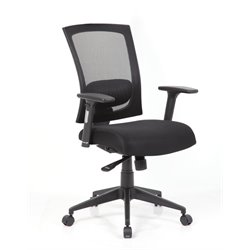 Bestar Taskmaster Mesh Swivel Office Chair in Black