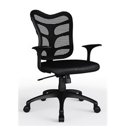 Bestar Urban Mesh Swivel Office Chair in Black