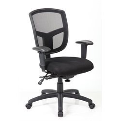 Bestar Aero-Pro Mesh Swivel Office Chair in Black