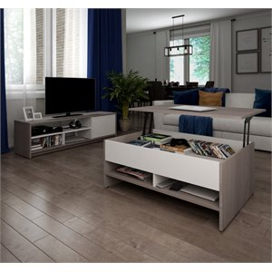 Bestar Small Space Premium 2 Piece Coffee Table Set-SH3