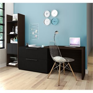 Bestar Small Space Classic 2 Piece Office Set-SH6