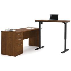 Bestar Embassy Height Adjustable L-Shaped Computer Desk-SH