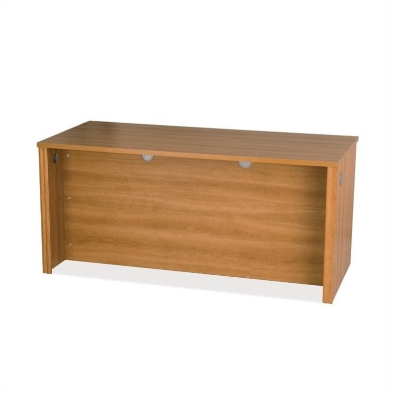 Embassy Home Office Wood Credenza Desk in Cappuccino Cherry