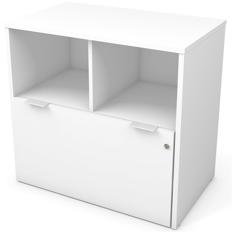 Bestar i3 Plus 1 Drawer Lateral File Cabinet in White