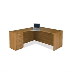 Bestar Embassy L-Desk in Cappuccino Cherry