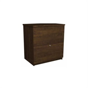 Bestar 2 Drawer Lateral File Storage Cabinet in Chocolate